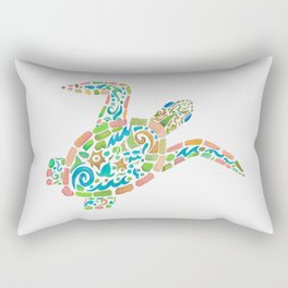 Surf Turtle Rectangular Pillow