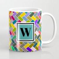 monogram Mugs featuring W Monogram by mailboxdisco