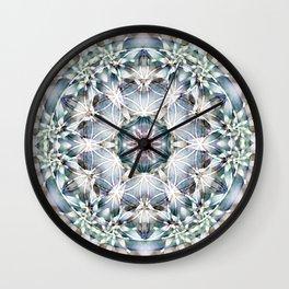 Flower of Life Mandalas 1 Wall Clock