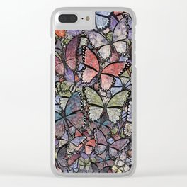 butterflies galore grunge version Clear iPhone Case