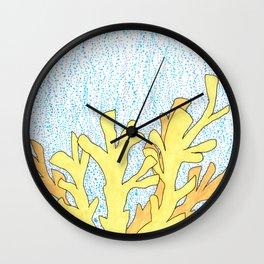 Elkhorn Coral Wall Clock