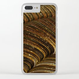 rox - abstract design rich brown rust copper tones Clear iPhone Case