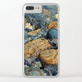 Wet Rocks Clear iPhone Case