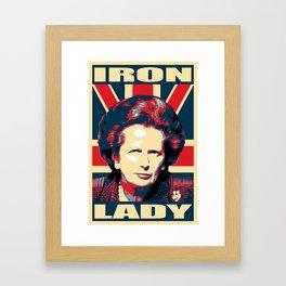 Margaret Thatcher Iron Lady Pop Art Framed Art Print