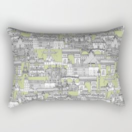 Paris toile eau de nil Rectangular Pillow