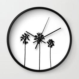 Palm Tree Noir #31 Wall Clock