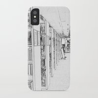 library iPhone & iPod Cases featuring Library by Triple-A