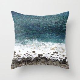 Ocean blue - Madeira Throw Pillow