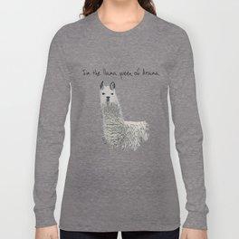 Llama Queen of Drama Long Sleeve T-shirt