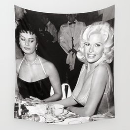 'Best Envy' Iconic Hollywood Starlet Black and White Photograph Wall Tapestry