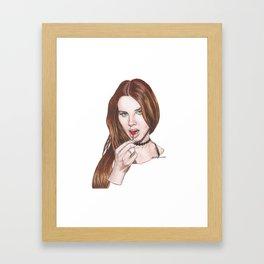 summer bummer Framed Art Print