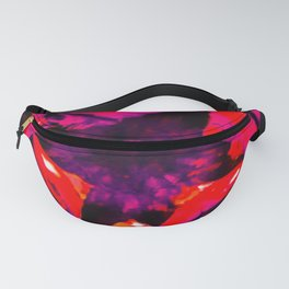 Bright Red Pine Cone Top Pattern Fanny Pack