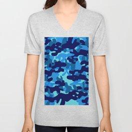 Camouflage (Blue) Unisex V-Neck