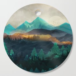 Green Wild Mountainside Cutting Board