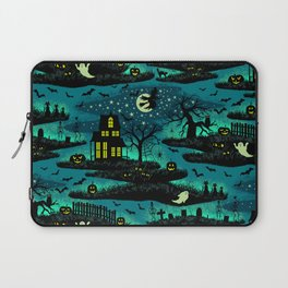 Halloween Night - Fox Fire Green Laptop Sleeve