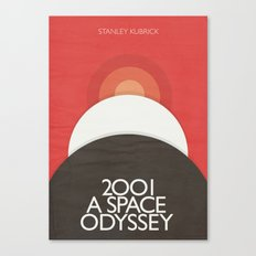 2001 A Space Odyssey - Stanley Kubrick movie Poster, Red Version Canvas Print