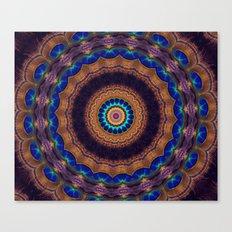 Peacock Pinwheel Canvas Print