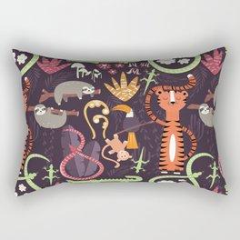 Rain forest animals 002 Rectangular Pillow