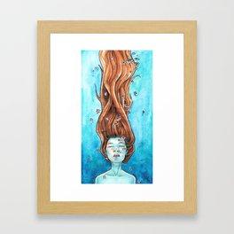 Drowning in Flowers Framed Art Print