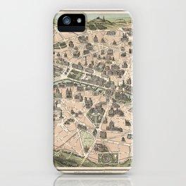 NOUVEAU PARIS MONUMENTAL Itinéraire pratique de l'étranger dans Paris iPhone Case