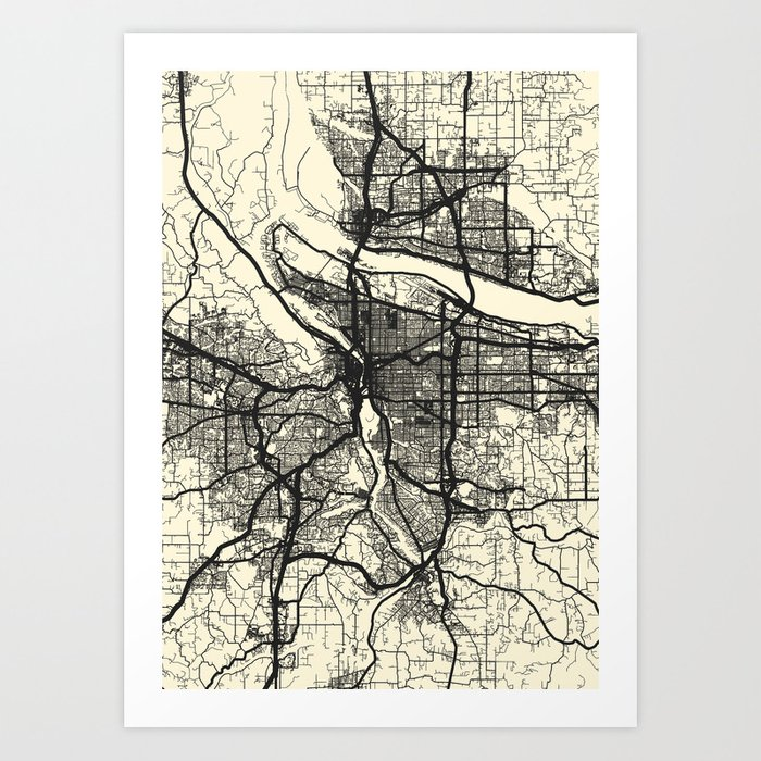 Portland,OR Art Print