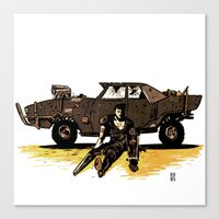 mad max Canvas Prints featuring MAD MAX by Gregory Casares