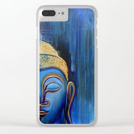 Smiling Buddha in the Rain Clear iPhone Case