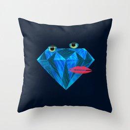 So hard, furry diamond  Throw Pillow