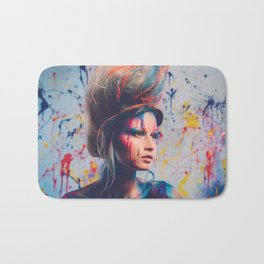 Young woman muse with creative body art and hairdo (9) Bath Mat