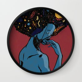 I Contain Galaxies Wall Clock