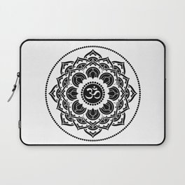 Black and White Mandala | Flower Mandhala Laptop Sleeve