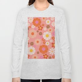 Groovy 60's Mod Flower Power Long Sleeve T-shirt