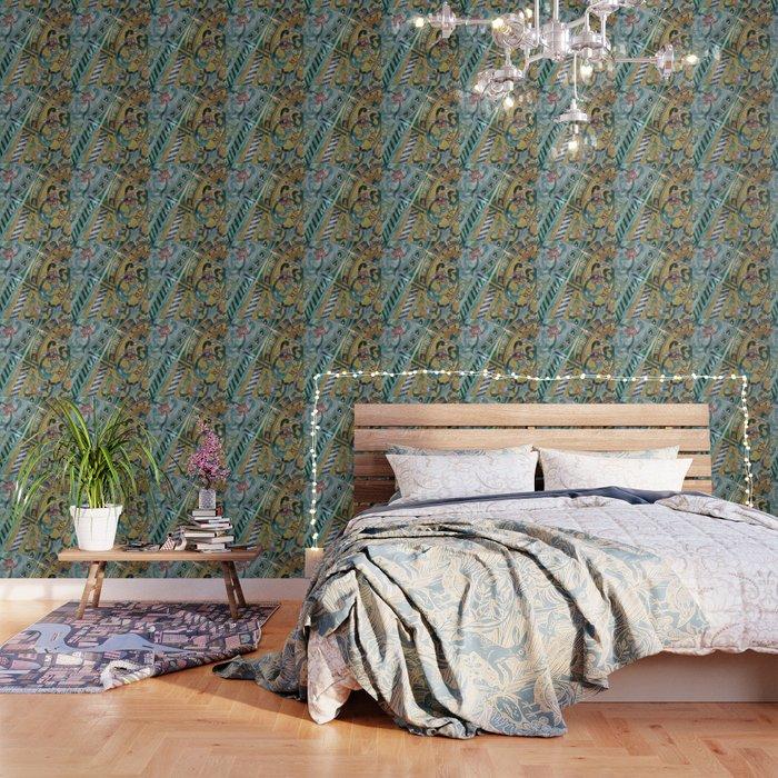 Foral Mosaik diagonal pattern Illustration Wallpaper by carmenjc