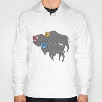 buffalo Hoodies featuring Buffalo  by Xandra Creative