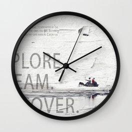 Explore.Dream.Discover. Wall Clock