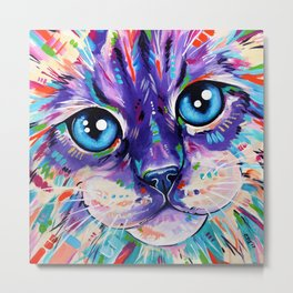 Ragdoll Cat - Cats in Colour 1 Metal Print
