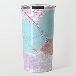 Punta Gorda & Port Charlotte Florida Map (1957) Travel Mug