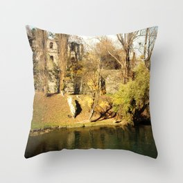 The autumn in the fort Throw Pillow