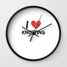I Love Knotting Wall Clock