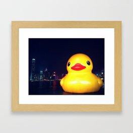 Super-sized Rubber Ducky Framed Art Print