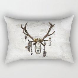 Bestial Crowns: The Elk Rectangular Pillow