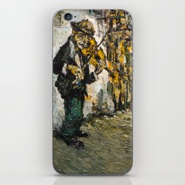 street musician playing on violin iPhone Skin