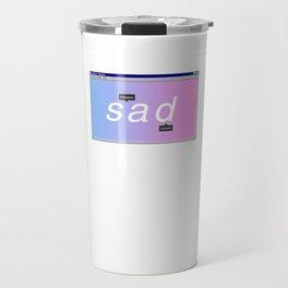 Sad Aesthetic Vaporwave Gift Notepad Window Emotional design Travel Mug