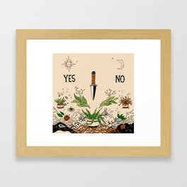 Yes Or No Framed Art Print