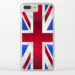 Union Jack Flag Clear iPhone Case