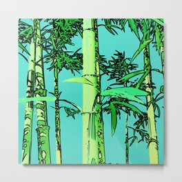 Bamboo cartoonized Metal Print