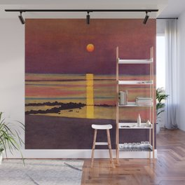Sunset at the Beach landscape painting by Félix Vallotton Wall Mural