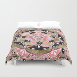 Elegant girly tribal mandala design Duvet Cover