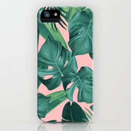 Tropical Summer Jungle Leaves Dream #1 #tropical #decor #art #society6 iPhone Case