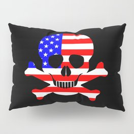 Stars And Stripes Skull and Crossbones Pillow Sham